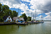 Yacht harbor, Rankwitz, Peenstrom, Usedom, Baltic Sea, Mecklenburg-Western Pomerania, Germany