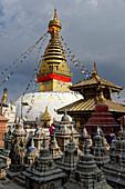 Swayambhunath stupa, Kathmandu, Nepal, Asia.