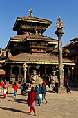 The Dattatreya Temple in Bhaktapur, Kathmandu Valley, Nepal, Asia.