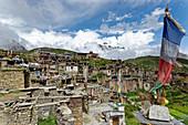 Still an insider tip: The village of Nar, Nepal, Himalayas, Asia.