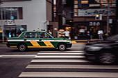 Taxi in Tokyo, Tokio, Japan, Asien