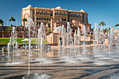 Fountain in front of the Emirates Palace, Abu Dhabi, United Arab Emirates