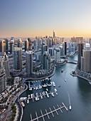View over the Dubai Marina, Dubai, United Arab Emirates