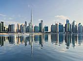 Skyscrapers, Business Bay, Burj Khalifa, Dubai, United Arab Emirates