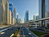 Skyscrapers on Sheikh Zayed Road, Dubai, United Arab Emirates