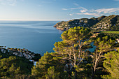 View from Cap Vermell to Cap d'es Pinar, Canyamel, Mallorca, Balearic Islands, Catalonia, Spain