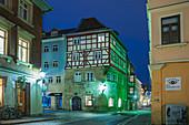 Steingasse in Coburg, Upper Franconia, Bavaria, Germany