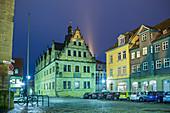 Gymnasium Casimirianum und Kirchhof in Coburg, Oberfranken, Bayern, Deutschland
