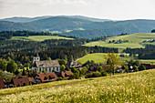 Breitnau und Feldberg im Hintergrund, Schwarzwald, Baden-Württemberg, Deutschland