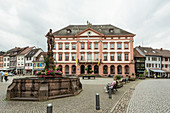 Town hall and market square, Gengenbach, Kinzigtal, Ortenau, Black Forest, Baden-Württemberg, Germany
