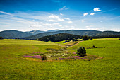 View from Schauinsland to Feldberg, Black Forest, Baden-Wuerttemberg, Germany