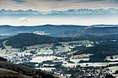 View from Herzogenhorn to the Alps, Feldberg, Black Forest, Baden-Württemberg, Germany