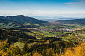 View of the Dreisamtal, autumn, Kirchzarten, Freiburg im Breisgau, Black Forest, Baden-Württemberg, Germany