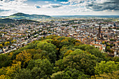 City view with Minster, Freiburg im Breisgau, Black Forest, Baden-Wuerttemberg, Germany