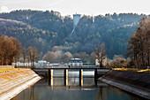 Leitzachwerk in Feldkirchen-Westerham, Bavaria, Germany