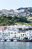View from sea to the Marina Grande in Capri, Italy