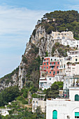 Mountain with houses in Capri, Italy