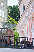 Terrace and facade in Capri, Italy