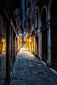 Calle Barcaroli in the morning in Venice, Veneto, Italy