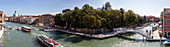 "Von der Brücke ""Ponte della Costituzione"" über den Canal Grande in Venedig, Rio Novo (rechts), Panorama, Venetien, Italien"