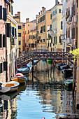 """Bridges of """"Riello de Santa Sofia"""" in Venice, Veneto, Italy"""