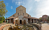 The Cathedral of Santa Maria Assunta on Torcello in the Venice lagoon, panorama, Veneto, Italy