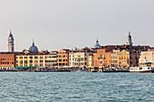 Venice moorings for boats and ferries, Veneto, Italy
