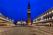 Piazza San Marco before sunrise in Venice, Veneto, Italy