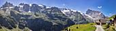 Alp Surenen in front of Urner Alps from Fürenalp, Panorama, Stäuber, Engelberg, Switzerland