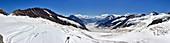 Jungfraujoch, Aletsch Glacier, Panorama, Valais, Switzerland