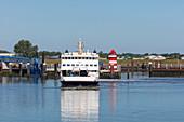 Ferry; Port; Foehr; Schleswig-Holstein; Germany