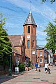 Bell tower, St. Nicolai Church, Wyk, Föhr, Scheswig-Holstein, Germany