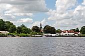 Treene next to Friedrichstadt, Schleswig-Holstein, Germany