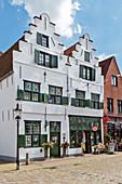 Double gabled house in Prinzenstrasse, Friedrichstadt, Schleswig-Holstein, Germany