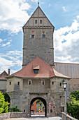 The Rothenburg Gate in Dinkelsbühl, Middle Franconia, Bavaria, Germany