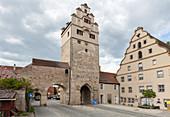 Noerdlinger Tor in Dinkelsbühl from the outside, Middle Franconia, Bavaria, Germany