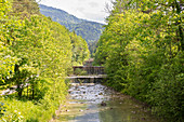 Wasserfälle vom Jenbach bei Bad Feilnbach, Bayern, Deutschland