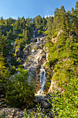 Sulzer waterfall in the Almbachklamm in the Berchtesgaden Alps, Bavaria, Germany