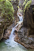 River course in the Almbachklamm in the Berchtesgaden Alps, Bavaria, Germany