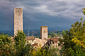 Cityscape with towers, San Gimignano, Tuscany, Italy, Europe
