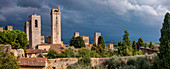 Stormy sky over San Gimignano, Tuscany, Italy, Europe