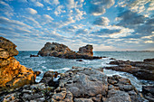 Morgenstimmung an der Bretonischen Küste, Bretagne, Frankreich, Europa