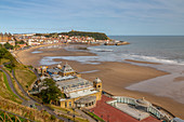 View of South Bay and Scarborough Spa, Scarborough, North Yorkshire, Yorkshire, England, United Kingdom, Europe