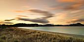 Cooks Beach at sunset, Coromandel Peninsula, Waikato, North Island, New Zealand, Pacific