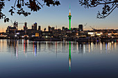 Sky Tower and Skyline at Westhaven Marina, Auckland, North Island, New Zealand, Pacific