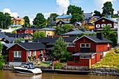 Wooden town of Poorvo, Finland, Europe