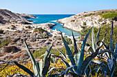 Papafragas rocky beach on Milos island, Cyclades, Greek Islands, Greece, Europe