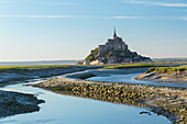 The historic citadel and abbey church of Le Mont Saint Michel in Normandy.
