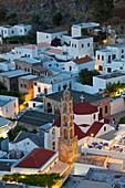 Dusk, Lindos, Rhodes Island, Dodecanese Islands,