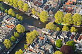 Aerial view of Amsterdam, Holland, Netherlands